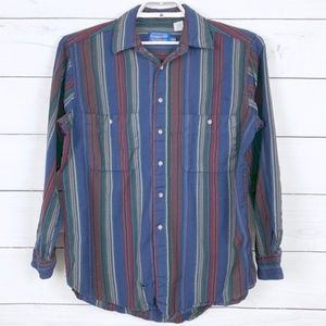 Pendleton Vintage Striped Button Down Shirt Wool